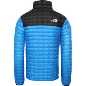 The North Face ThermoBall Eco Light Chaqueta Hombre, clear lake blue/tnf black